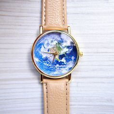 Travel Gift - World Map Watch - Globe Watch - Travel watch - Christmas gift - Earth watch - Unique Women Watch - Unisex Watch - Gift for her