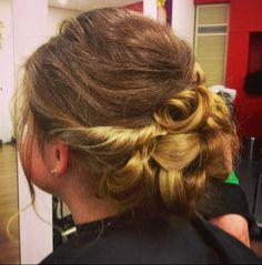 Messy bun/ formal hair by AmberD
