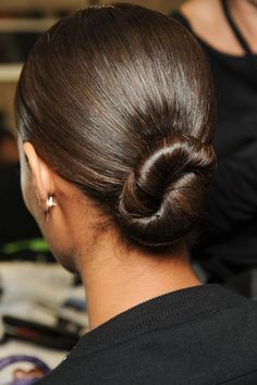 Givenchy Severe Twist - spring/summer 2013: Fashion Week hairstyles