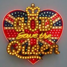 Neon art | Chris Bracey - God save the queen