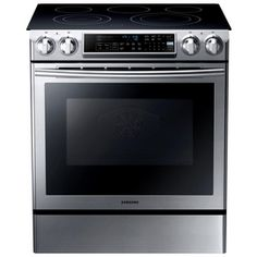 Slide-In Double Oven Electric Range with Self-Cleaning Convection Oven in Stainless - The Home Depot Four A Convection, Convection Cooking, Self Cleaning Ovens, Steam Cleaning, Home Depot, Double Oven Electric Range, Electric Oven, Ranger, Hd Samsung