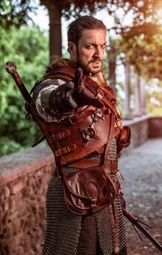 Legendary Grandmaster Bear Armor - LEATHER ARMOR set completo Leather Armor, Leather Dye, Leather Hats, Leather Gauntlet, Chain Mail, Big Bags, I Can Change, Medieval Armor, Shoulder Pads