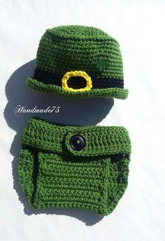 st patricks day,irish hat,crochet diaper cover,newborn set,baby accessories,leprechaun hat,hats for babies,green hat,irish gifts,handmade