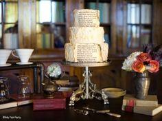 Wedding cake pour mariage sur le thème littérature