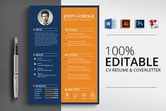 MS Word CV Resume Template ~ Resume Templates ~ Creative Market