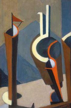 Lajos Tihanyi, Composition, 1925