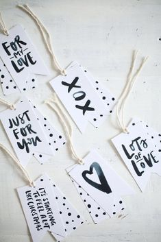 Keep things black and white…. | 24 Adorable Free Gift Tags You Can Print Right Now
