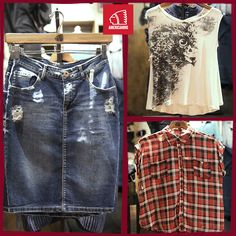 #mujer #woman #latina #shirt #skirt #jeans #leñadora #colors #fashion #moda #casual #style #original #cccuartaetapa Americanino Local 2-6/10