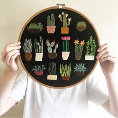 Madi Astolfi is a textile and embroidery artist on the Central Coast in . - Madi Astolfi is a textile and embroidery artist on the Central Coast in … – # - Cactus Embroidery, Simple Embroidery, Hand Embroidery Stitches, Modern Embroidery, Embroidery Hoop Art, Hand Embroidery Designs, Cross Stitch Embroidery, Embroidery Ideas, Wedding Embroidery