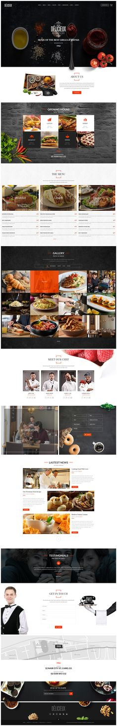 Delicieux - Exquisite Restaurant PSD Template on Behance