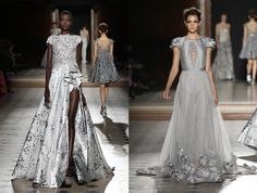 Tony Ward - Défilé Haute Couture FW 15/16  No Face No Name blog : www.nofacenoname.blogspot.fr Instagram : @nofacenonameblog  Twitter : @nfnnblog  Facebook : www.facebook.com/nofacenonameblog  #Robe #créateur #dress #gris #grey #argent #silver #dentelle #sequin #paillette #princess #princesse #lace #fashion #mode #défilé #hiver # winter #catwalk #hautecouture #broderie #embroidery