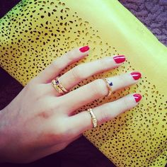 Aulia Alysse stackable gold ring set (Photo credit: Ling of shopzaozao)
