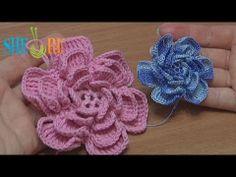 Crochet Fluffy Flower Tutorial