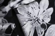 Black/Silver Grey100% Polyester BrocadeWidth:140cm This textured brocadeis ideal fo...