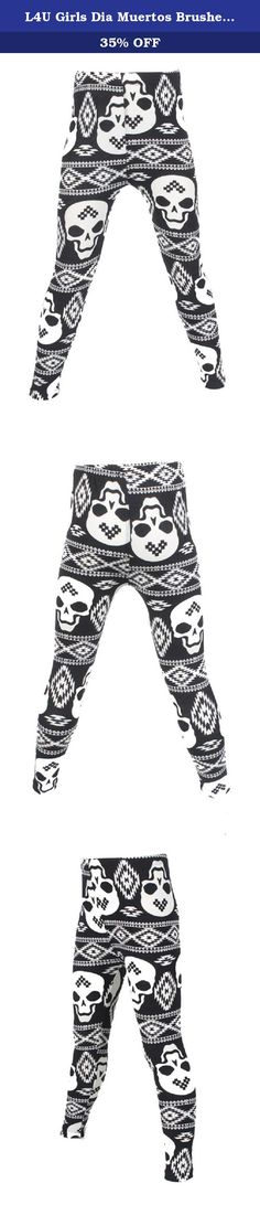 L4U Girls Dia Muertos Brushed Printed Fashion Leggings. Bring a splash of vibrant appeal to your little one's style with the E4U Bright and Lively Girls' Collection Legging Pant. Durably made from breathably soft cotton and stretchy spandex in a Jersey knit, these mid-rise Leggings reach down to the ankle for a comfortable fit that clings tightly to the leg. With its vivid and bright designs, this Legging Pant can be paired with shorts or skirts to add a delightful touch to your kiddo's…