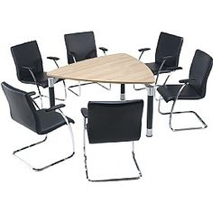 #officefurniture #conferencetable - Trilogy Triangular Solo #BoardroomTables are creative conference desks for creative group sitting for discussion on creative ideas. The desks have a slightly modern look and are different traditional boardroom tables. You can also place it in an open environment in office. Check out colours  options and more here- http://www.office-desks.co.uk/trilogy-triangular-solo-boardroom-tables.html
