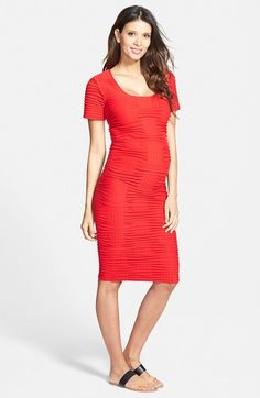 Tees by Tina Crosshatch Maternity Dress available at #Nordstrom