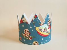 Rocket Ship Birthday, Retro Rocket Ship Party Hat, Boys Birthday Crown, Photo Shoot Prop, Rocket Ship Birthday Outerspace Birthday Astronaut