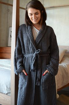 These deep waffle textured cotton robes are a soft 158a6edf3