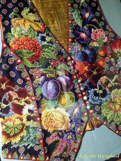 Petit point Kaffe Fassett by eclectic gipsyland, via Flickr