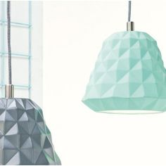 Leitmotiv hanglamp Cast Mini, wit, grijs, mint