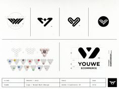 Youwe's logo conceptional process in a nutshell by Gert van Duinen