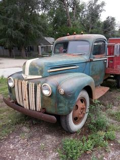 1947 Ford one and a half ton flatbed truck Dump Truck, Tow Truck, Pickup Trucks, Old Trucks, Antique Cars, Ford, Rigs, Vehicles, Homes