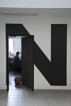 "This huge ""N"" is fantastic wayfinding"