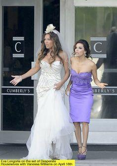 Desperate Housewives Renee in her wedding dress to wed Ben