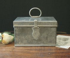 Vintage / Antique Tea Cannister / Victorian by AloofNewfWhimsy