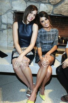 Mandy Moore in The Row with Nikki Reed in Rebecca Vallance. [Photo by Amy Graves]