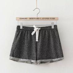 Summer Women Elastic Waist Tunic Drawstring Elegant Beach Sport Pocket Cuffs Casual Brand Shorts