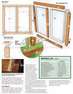 #2816 Bookcase Plans - Furniture Plans