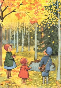 elsa beskow - just love her illustrations.