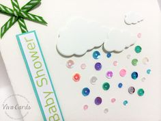 """119 - Handmade Card - """"Baby Shower"""" - Sequins & Clouds"""