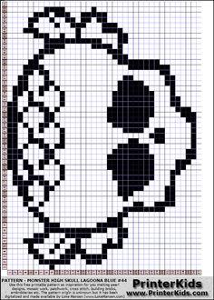Monster High Lagoona Blue Skull Logo perler bead pattern