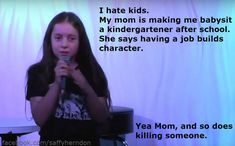 Some have questioned how Saffron could possibly come up with such adult humor, and even suggested that she might not write her own jokes. | This 10-Year-Old Comedian's Act Is Hilariously Inappropriate