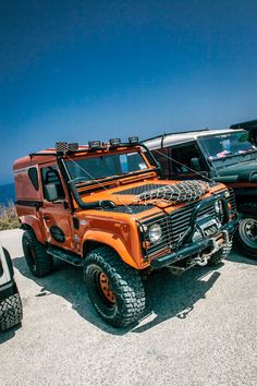GOZO, MALTA - AUGUST 2, 2015: Land Rover owners from Malta gather for a trip to Gozo on the occasion of International Land Rover Day 2015.  The iconic Defender goes out of production in December 2015.