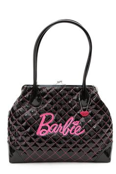 Barbie Black Patent Kisslock Bag