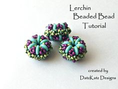 The Lerchin Beaded Bead is an original design by Debra of DatzKatz Designs. A unique beaded bead to use in bracelet and necklace designs! Beaded Beads, Beads Jewelry, Seed Bead Tutorials, Beading Tutorials, Jewelry Patterns, Beading Patterns, Beading Needles, Beading Techniques, Handmade Beads