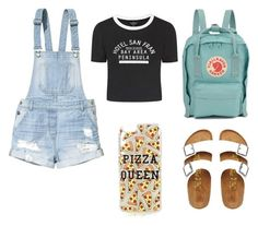 """""""Untitled #2"""" by noaandeden on Polyvore featuring Birkenstock, H&M, Fjällräven, Topshop, women's clothing, women, female, woman, misses and juniors"""