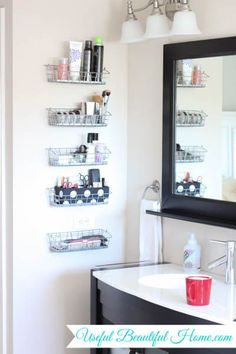 Inexpensive Vertical Bathroom Storage Organization