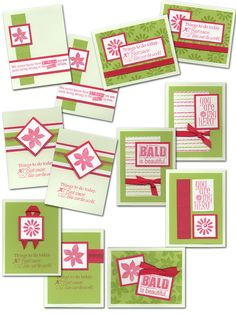 Cutting instructions for cards at Club Scrap Creates