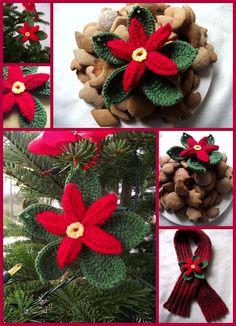 #DIY #tutorial #gwiazdabetlejemska #Święta #BożeNarodzenie #szydełko #christmas #crochet Burlap Wreath, Christmas Wreaths, Holiday Decor, Crochet, Home Decor, Tejidos, Xmas, Decoration Home, Room Decor