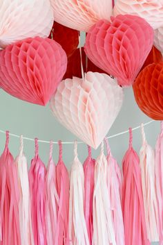 Honeycomb Decorations, Valentines Day Decorations, Bunting, Garland, Greeting Cards, Etsy, Garlands, Buntings, Banting