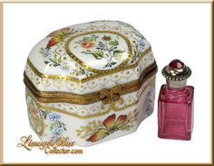 Butterflies & Roses Perfume Chest Limoges Box www.LimogesBoxCollector.com