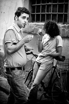Espresso Break on the streets of Florence. Want your Espresso break, come here: http://MyHomeBarista.com