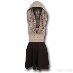 The Star Wars Jedi Cowl Dress will allow the females out there to become one with the Force! Now all you need is the will to yield a lightsaber! Star Wars Dress, Dress Skirt, Dress Up, Professional Costumes, Superhero Fashion, Nerd Fashion, Fandom Outfits, Star Wars Jedi, Geek Chic