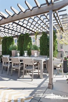 Neutral Modern Rooftop Dining Area