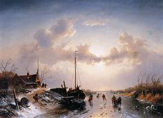 Charles Leickert - Winterlandschap (2)